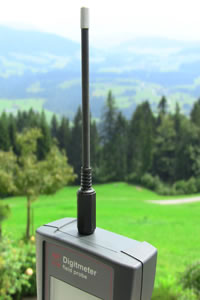 The Electic Field antenna fitted to the EM Field Probe EMF meter