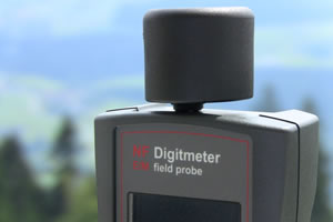 The Magnetic Field probe fitted to the EM Field Probe EMF meter