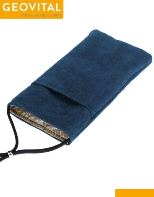 Mobile Phone Pouch with RF Shielding - Blue