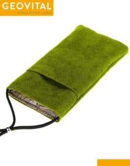 Mobile Phone Pouch with RF Shielding - Green