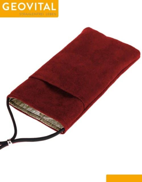 Mobile Phone Pouch with RF Shielding - Red